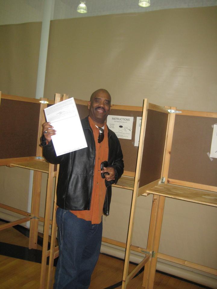 VOTING FOR BARACK OBAMA